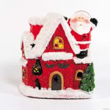 Санта с домиком со светом